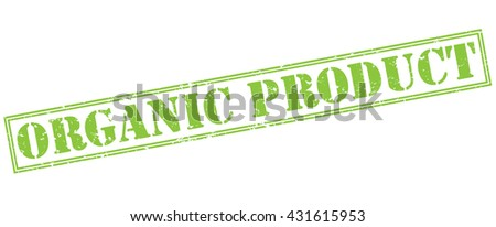 organic product green stamp - stock photo