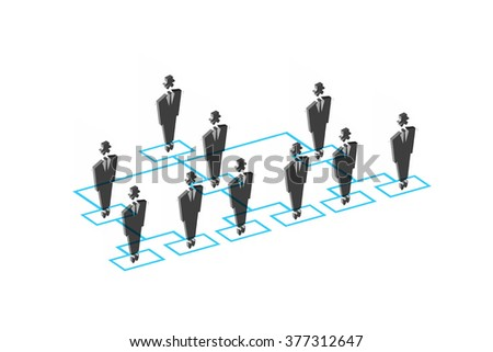 organisation chart - stock photo