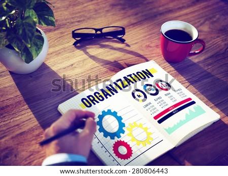 Organization Business Management Productivity Concept - stock photo