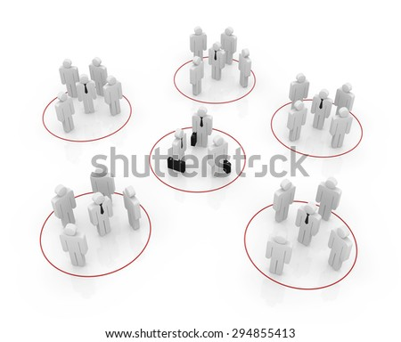 Organization concept , 3d rendered image. - stock photo