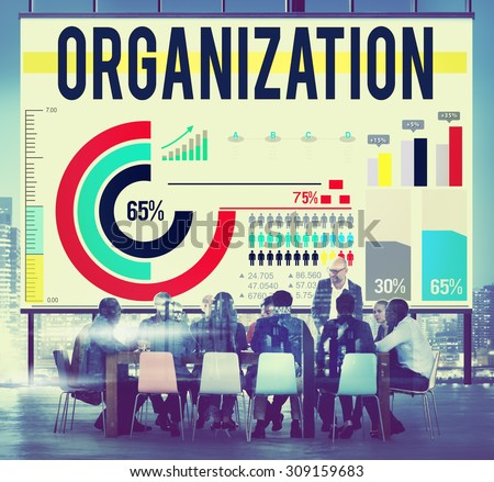 Organization Corporate Business Commitment Team Concept - stock photo