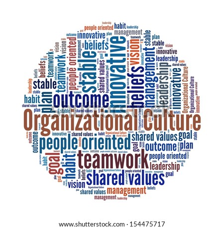 Organizational Culture in word collage - stock photo