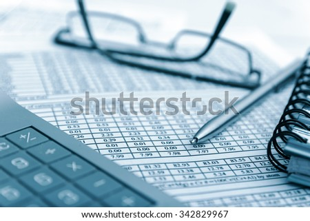 organizer and pen. business background  - stock photo