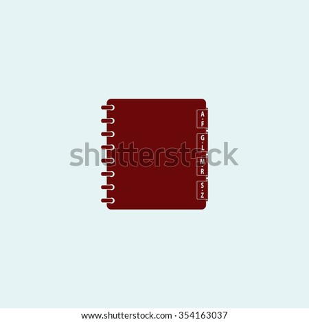 Organizer Red flat icon. Simple illustration pictogram - stock photo