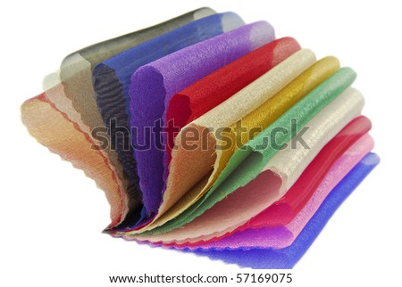 organza fabric texture sampler - stock photo