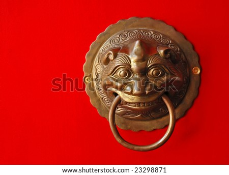 oriental door knob - stock photo