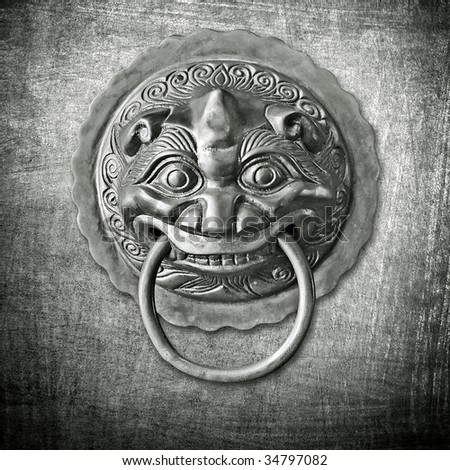 oriental door knob - stock photo