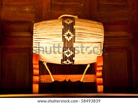 Oriental drum. - stock photo