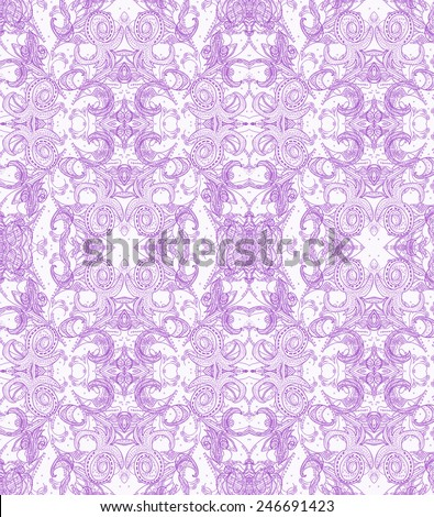 Oriental raster lacy pattern in pink colors - stock photo