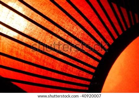 Oriental Silk Lantern, close-up background - stock photo