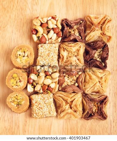 Oriental Sweet Baklava - stock photo