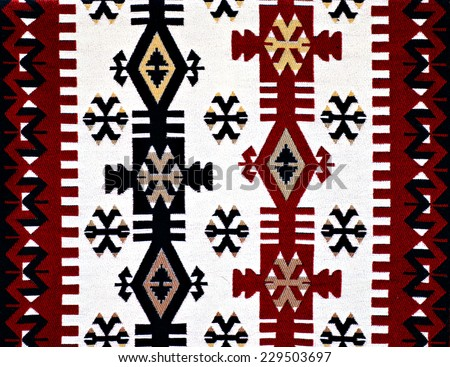 Oriental Turkish carpet pattern - stock photo