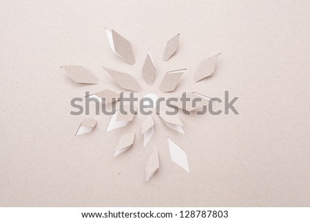 Origami  handmade cutout flower - stock photo