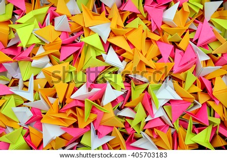 Origami papers background - stock photo