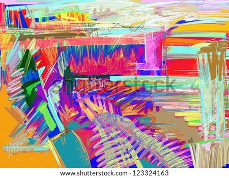 original abstract digital painting - stock photo