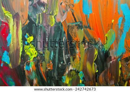 Original abstract  painting on canvas  - stock photo