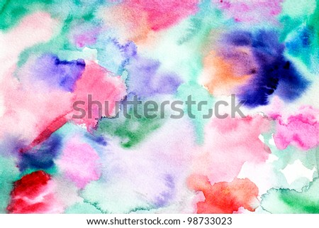original art watercolor abstract background - stock photo