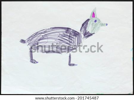 Husky Dog Drawing Drawing of a Husky Dog or