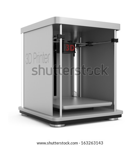 Original design 3D printer concept. - stock photo
