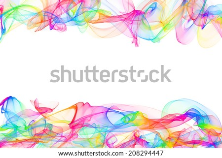 original frame abstract colorful background - stock photo
