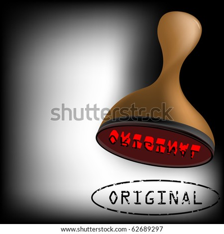 original stamp, abstract art illustration; for vector format please visit my gallery - stock photo