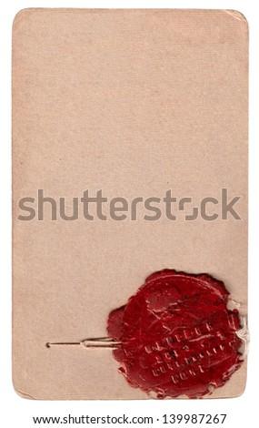 Original wax seal - stock photo