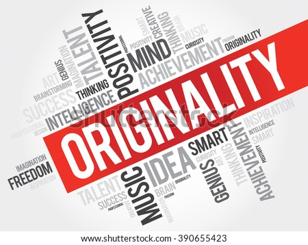 Originality word cloud, business concept - stock photo