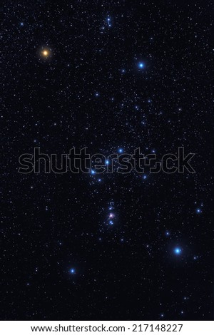 Orion constellation - stock photo