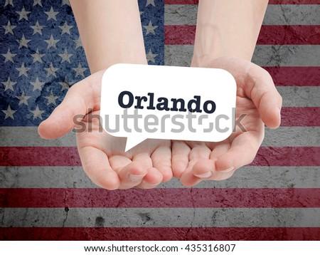 Orlando written in a speechbubble - stock photo