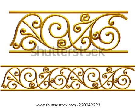 ornamental Element for a frieze, border or frame - stock photo