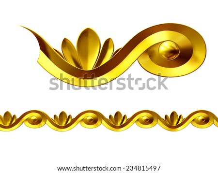 ornamental Segment for a frieze, border or frame - stock photo
