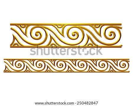 Ornamental Segment for a frieze, border or frame. This complements my ninety degree angle items for a circle or corner: Ornament 62. See Set -Decorative Ornaments- in my portfolio - stock photo