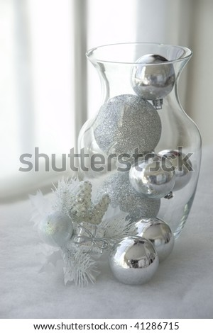 Ornaments In Vase - stock photo