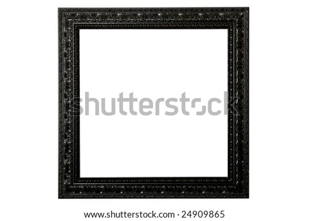 Ornate Black Picture Frame - stock photo