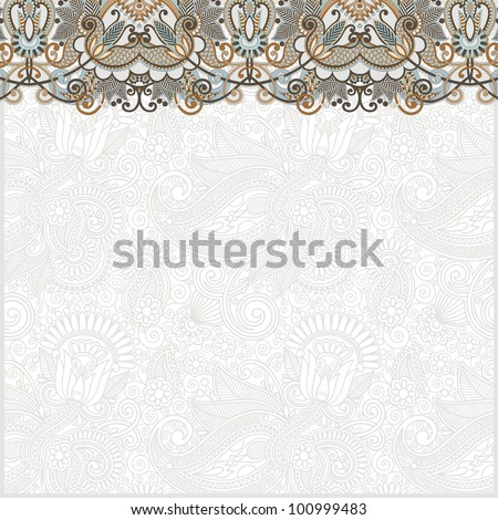 ornate card announcement. Raster version - stock photo