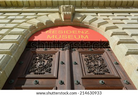 Ornate Door of the Residence Museum in Munich - stock photo