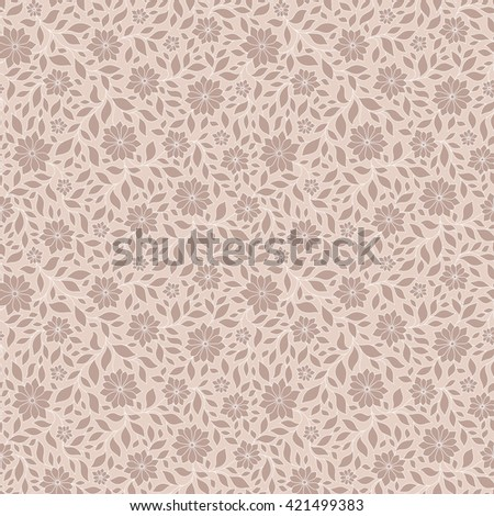 Ornate floral seamless texture, endless pattern with flowers. Seamless pattern can be used for wallpaper, pattern fills, web page background, surface textures - stock photo