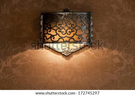 Ornated art deco lantern - stock photo