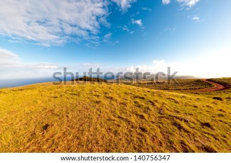 Orongo view - stock photo
