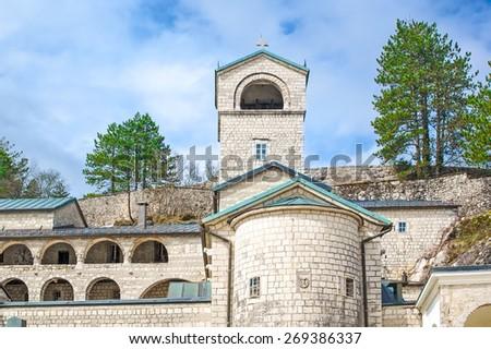 Orthodox monastery of Birth of Virgin Mary in Cetinje, Montenegro - stock photo