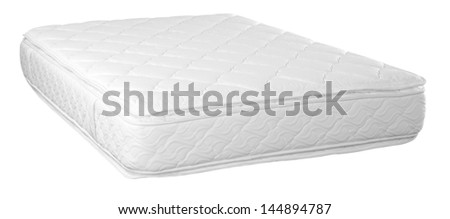 Orthopedic mattress. Isolated - stock photo