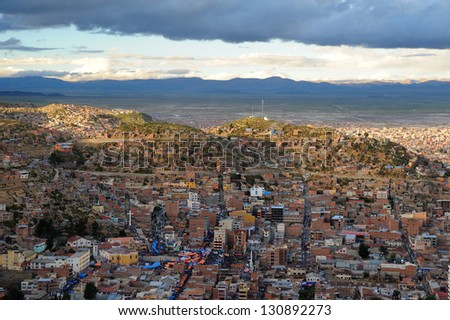 Oruro streets in carnival days. Potosi. Bolivia. - stock photo