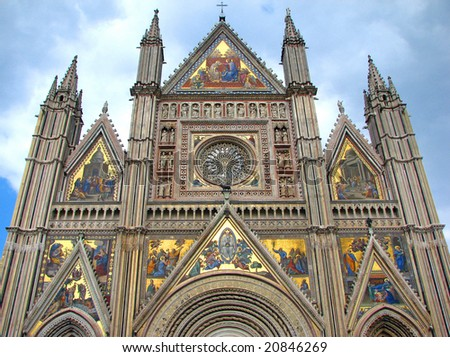 West Facade of Orvieto Cathedral Orvieto Cathedral Facade