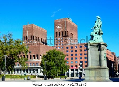Oslo City Hall (Norway) - stock photo