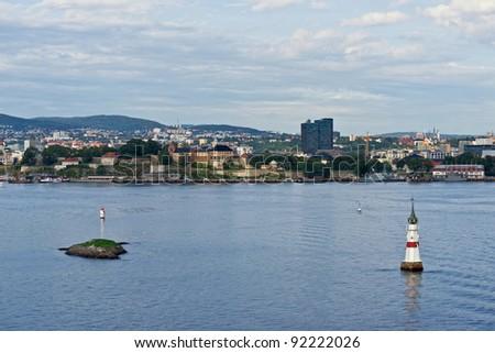 Oslo city view - stock photo