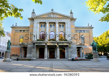 Oslo National Theater - stock photo
