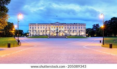 Oslo - Royal palace, Norway - stock photo