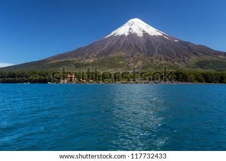 Osorno Volcano, Patagonia, Chile - stock photo