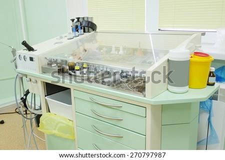 Otolaryngologist instrument. - stock photo