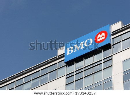 OTTAWA � SEPTEMBER 28: The Bank of Montreal building located in downtown Ottawa, Ontario on September 28, 2011. The Bank of Montreal, or BMO Financial Group, is the fourth-largest bank in Canada. - stock photo